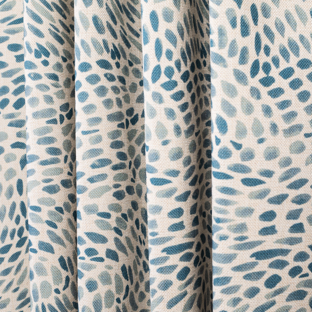 Mazzy seaside blue swirl print fabric from Tonic Living