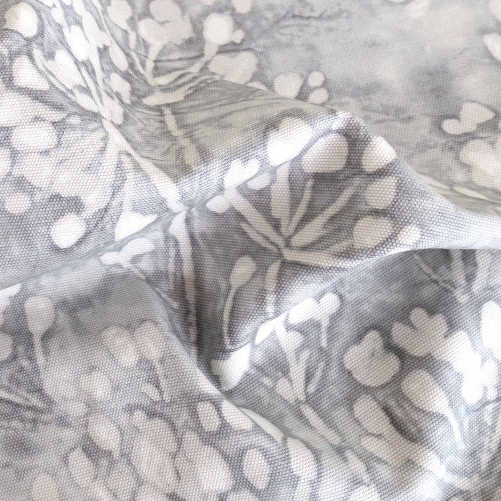 Meadow stone gray floral fabric from Tonic Living
