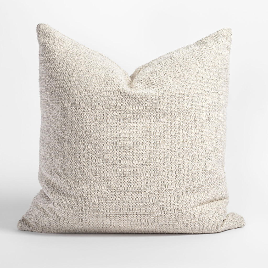 Milly 22x22 Vanilla Cream pillow, a sandy cream nubby textured pillow from Tonic Living