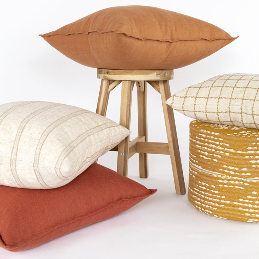 Earth tone pillow combo from Tonic Living