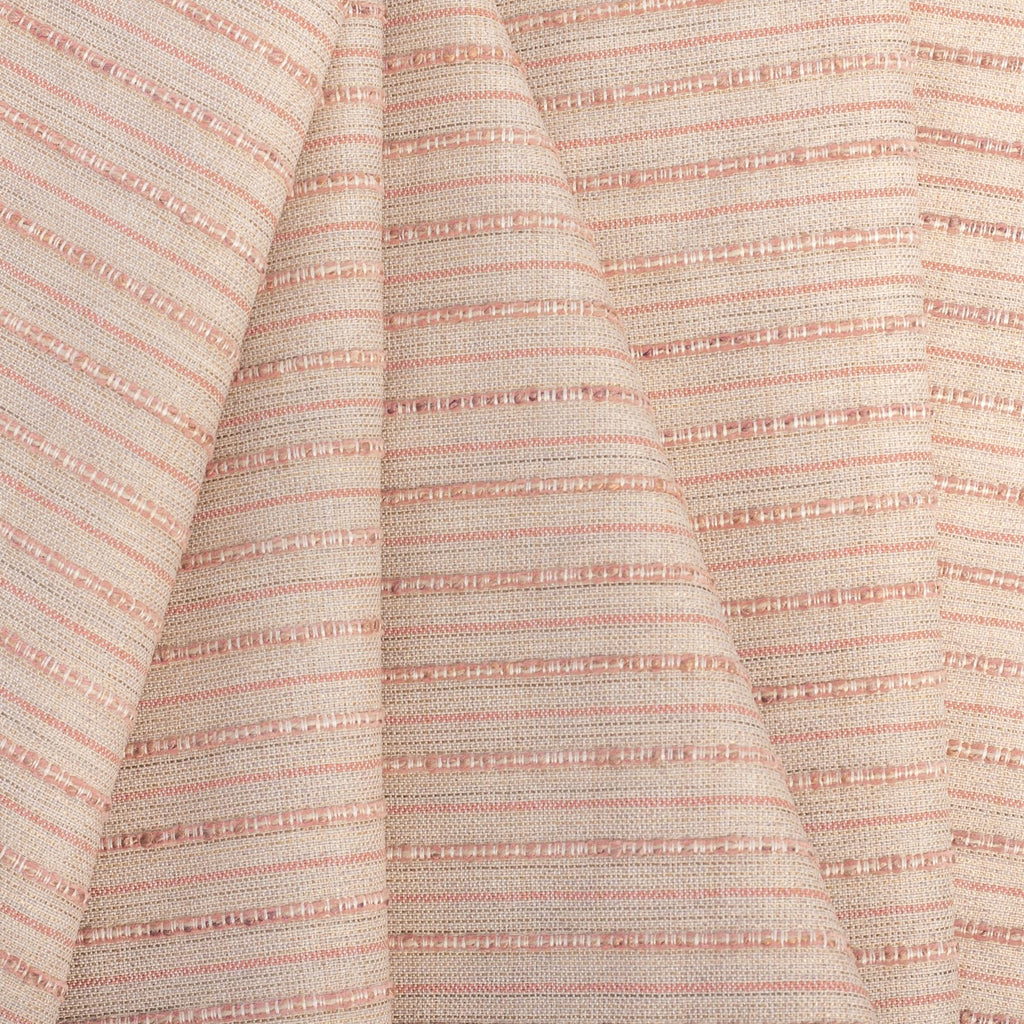 Misto Coral Blush, a light pink and light tan horizontal striped Crypton Home performance fabric from Tonic Living