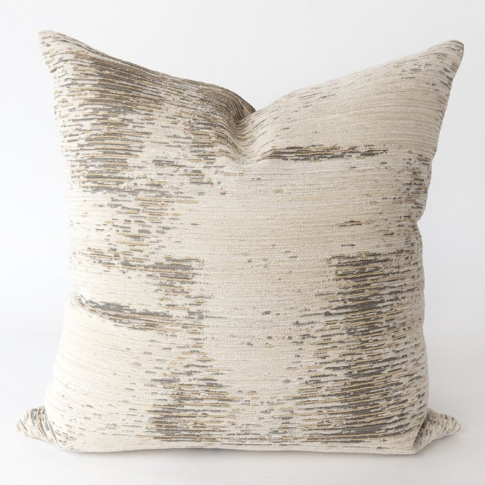 Moonwalk metallic gold textured pillow from Tonic Living