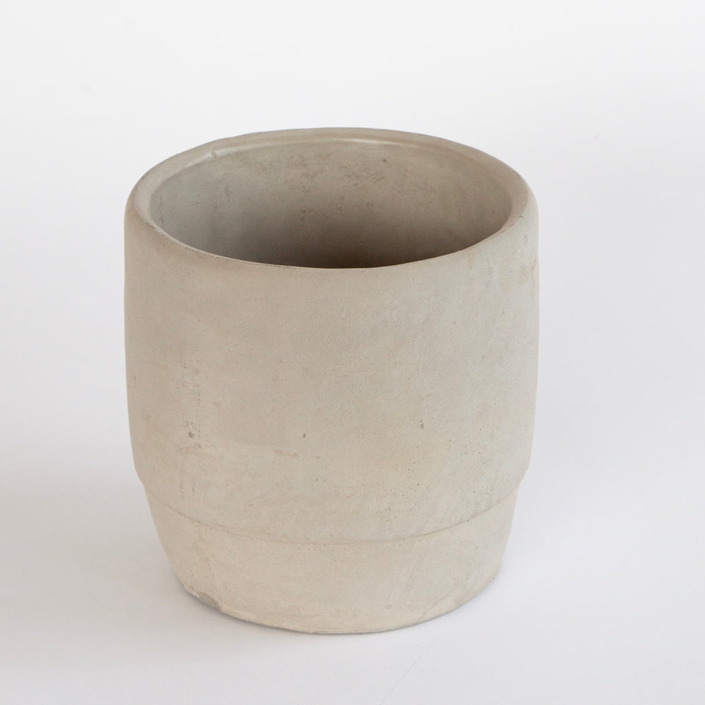 Morty gray concrete plant pot from Tonic Living