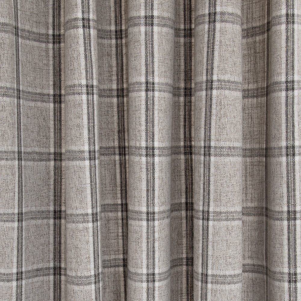 Nantucket Plaid Zinc, grey plaid fabric from Tonic Living