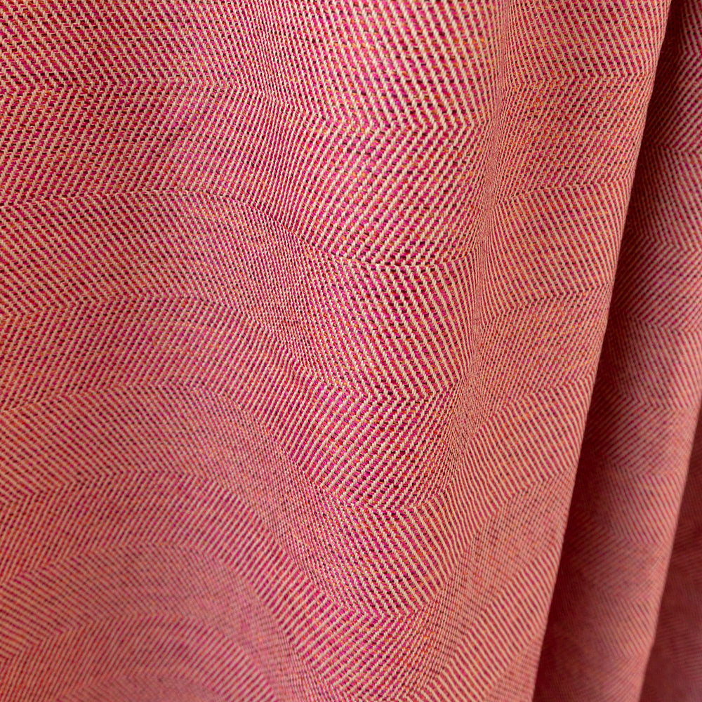 Neigel outdoor warm red pink chevron fabric from Tonic Living