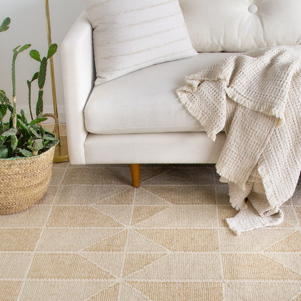 Ojai Wheat Loom Knotted Cotton Rug (Dash & Albert)