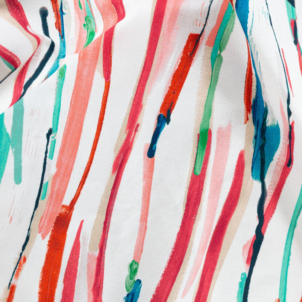 Painterly Fabric, Sorbet, a colourful brushstroke print from Tonic Living
