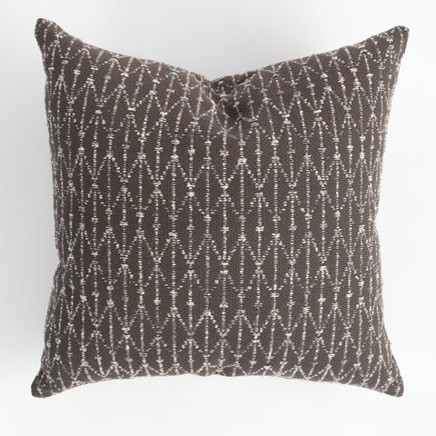 Palmer Thunder gray textured pillow from Tonic Living