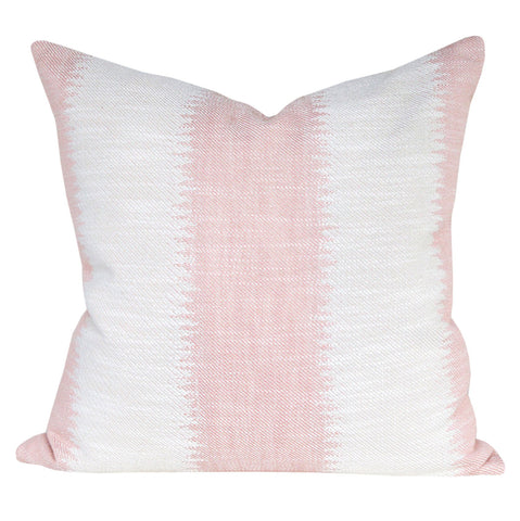 Passagio, Blush - A large scale ikat style striped blush pink pillow with a global feel by Tonic Living
