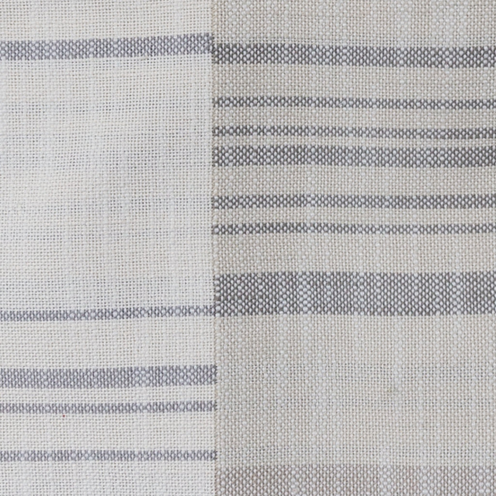 Patchwork grey stripe fabric from Tonic Living