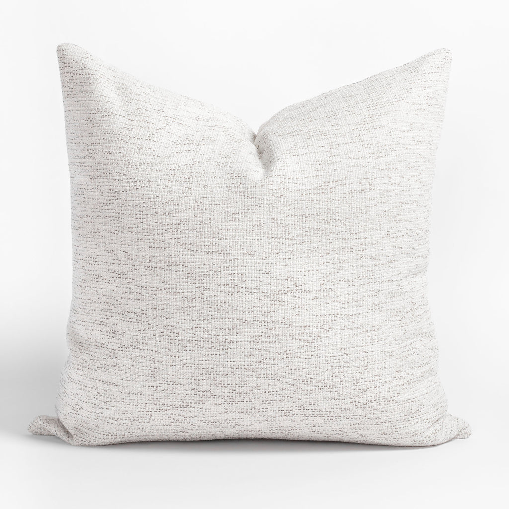 Preston Birch, a heathered cream and light grey indoor outdoor pillow from Tonic Living