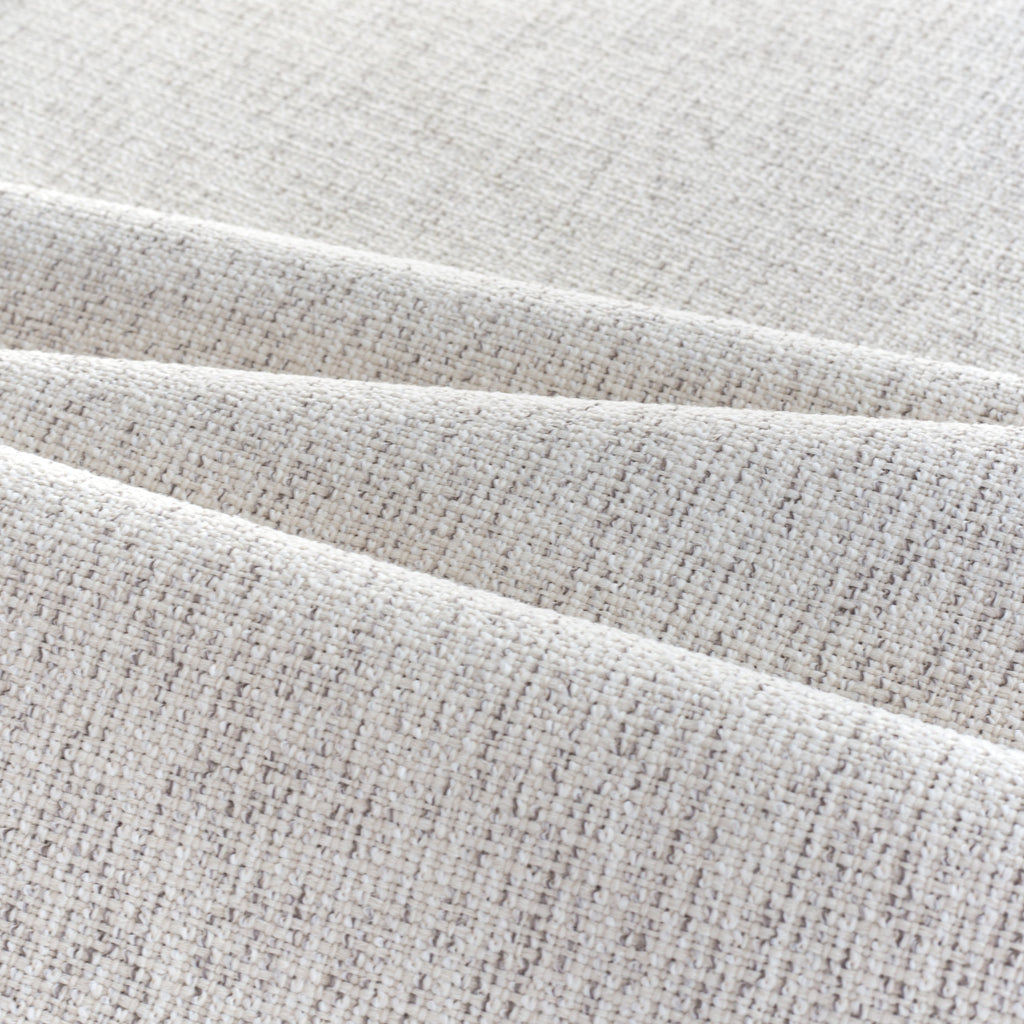 Preston Birch Indoor outdoor fabric, a light cream fabric, with strands of warm grey from Tonic Living