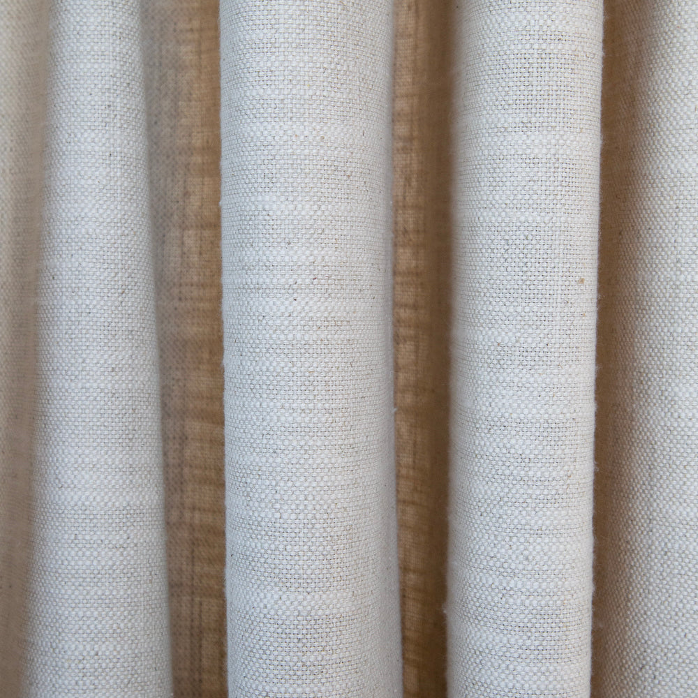 natural sand drapery fabric with slub tonic living