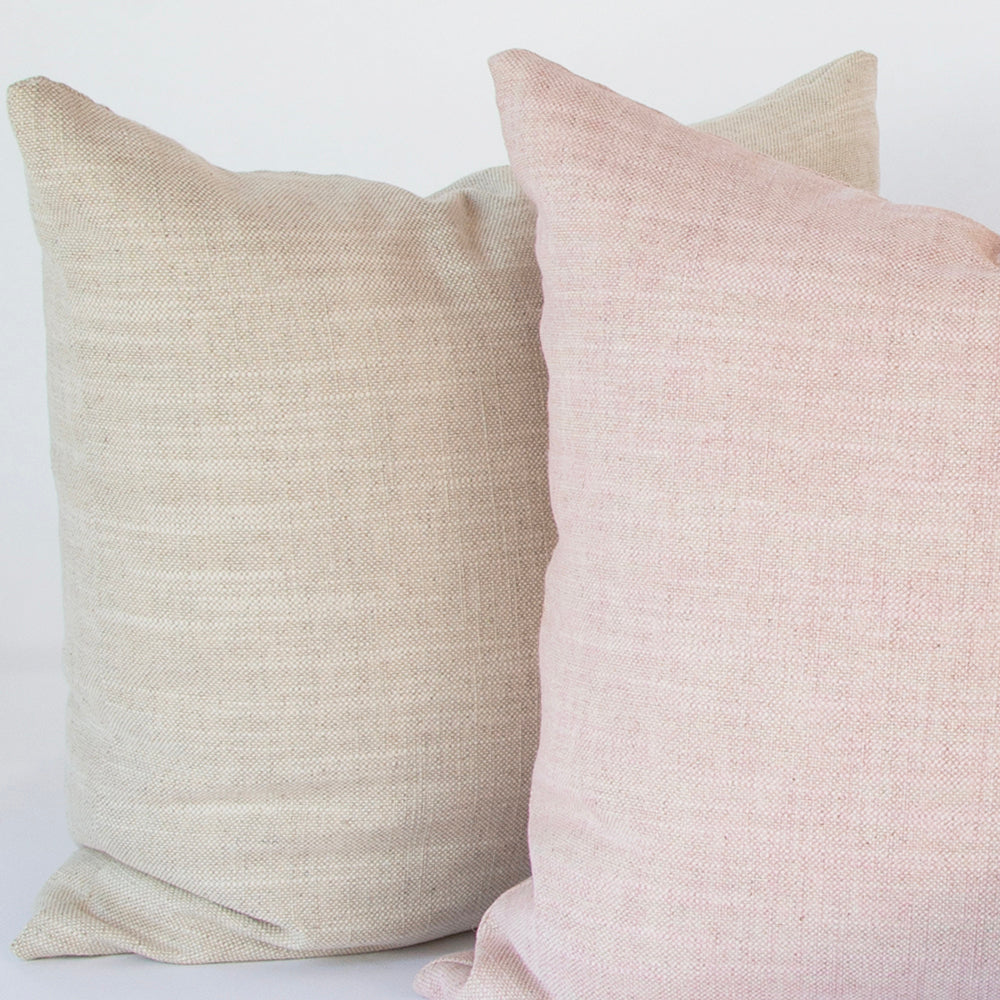 Quinto Pink and Natural Sand Pillow combo by Tonic Living