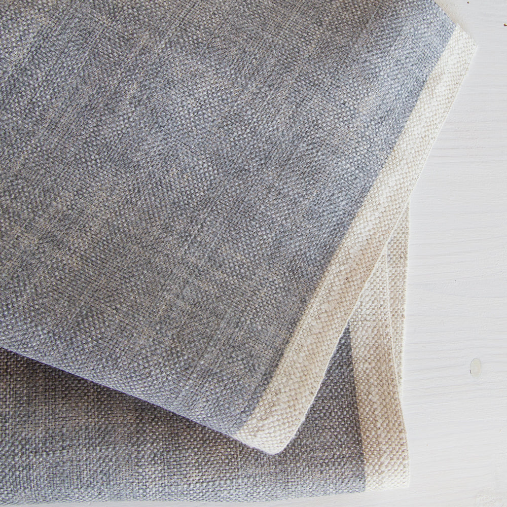Quinto Shadow, a blue gray drapery fabric from Tonic Living