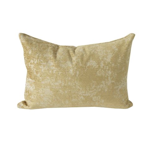 Reggio Velvet, Gold - A textured burnout velvet pillow in a rich gold tone is stunning for the holidays.