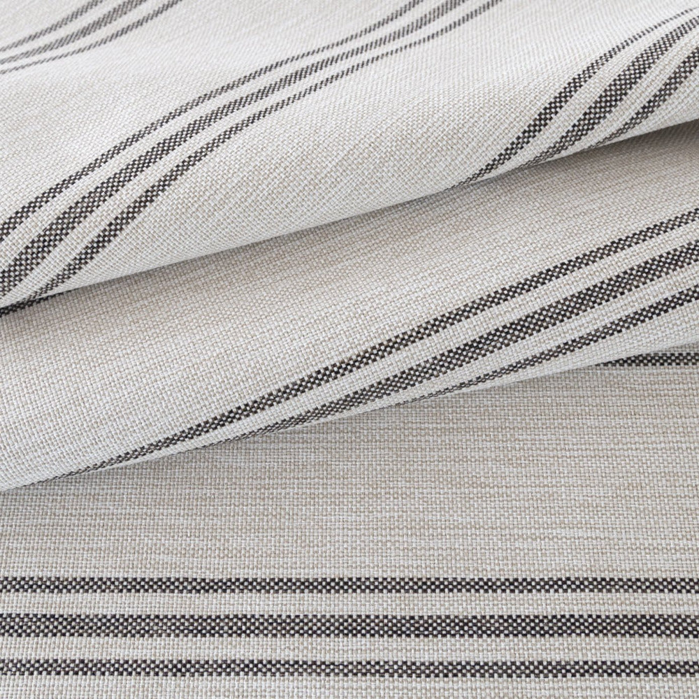 Renfrew Stripe, Charcoal, dark gray stripe and cream fabric from Tonic Living