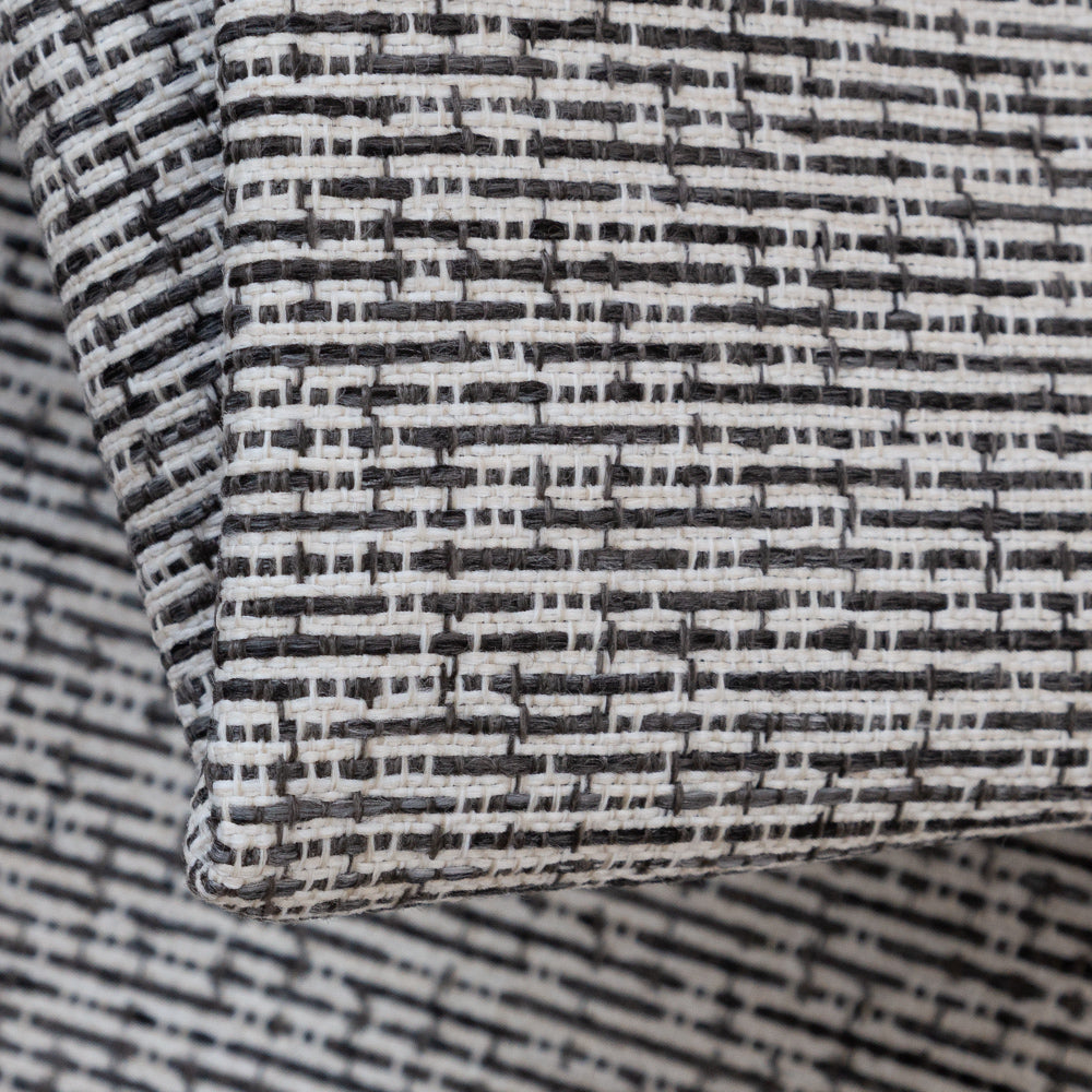 Renton Pavement, a black, grey and white textured upholstery fabric from Tonic Living