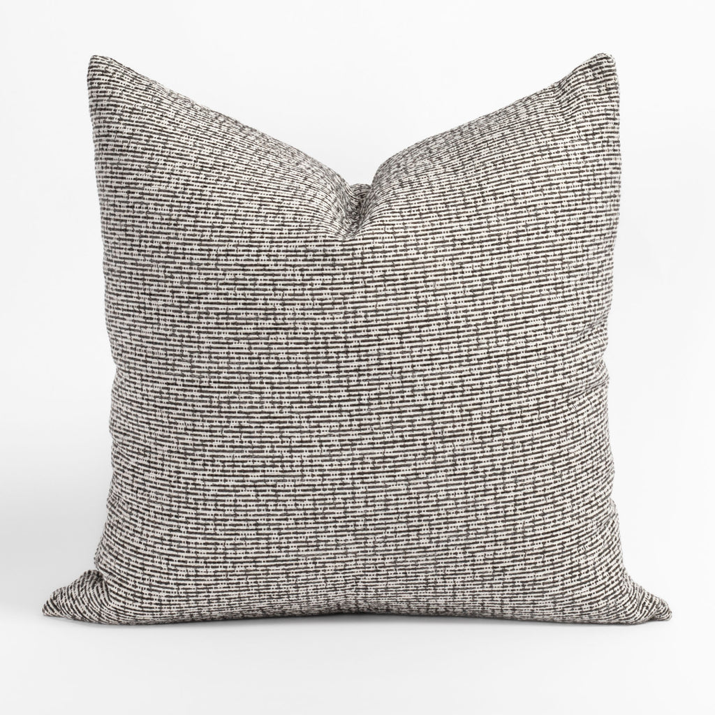 Renton Pavement, a charcoal and cream chunky woven textured pillow from Tonic Living
