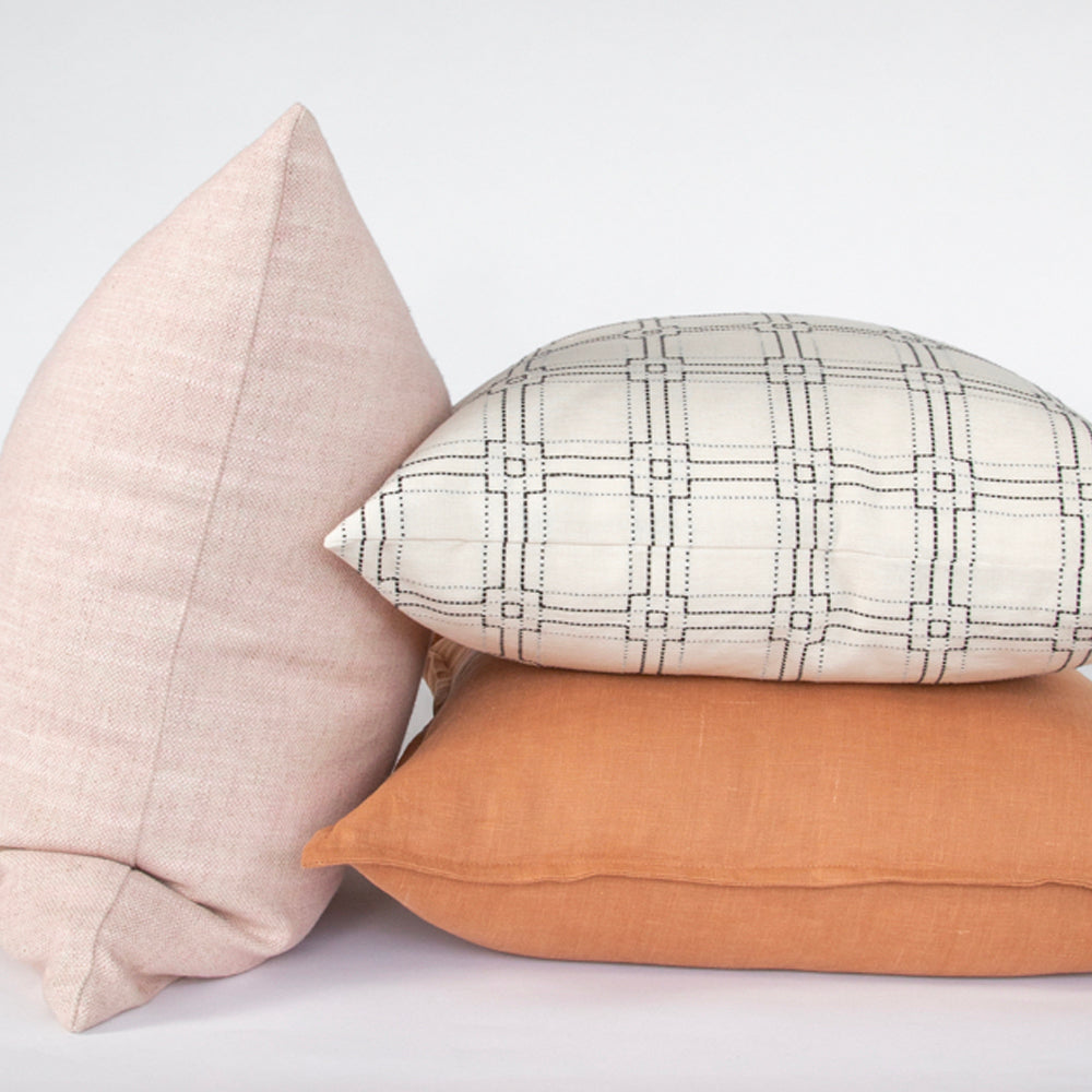 Rita, a black on cream square stitched pillow combo from Tonic Living