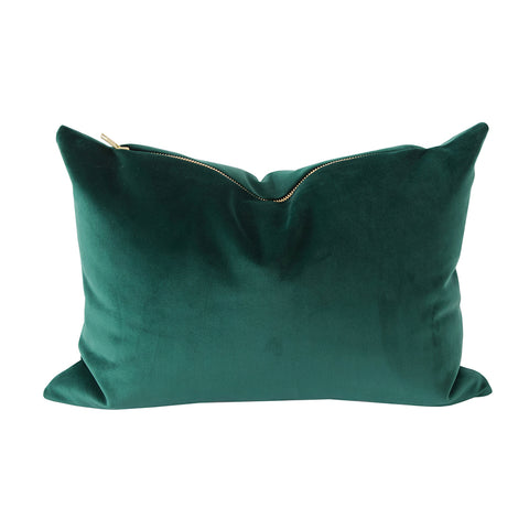 Ritz Velvet, Balsam Green - A beautiful dark green velvet pillow that will instantly add style to your holiday sofa and will continue to look good into the new year.