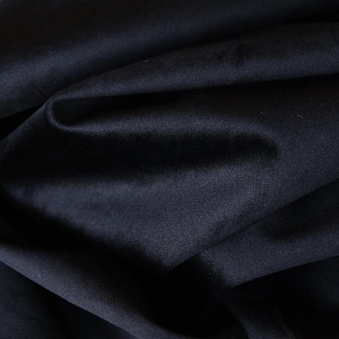 Ritz Velvet Onyx Fabric - A black velvet fabric with a fabulously soft feel. Suitable for upholstery, cushions, pillows and other home decor accessories.