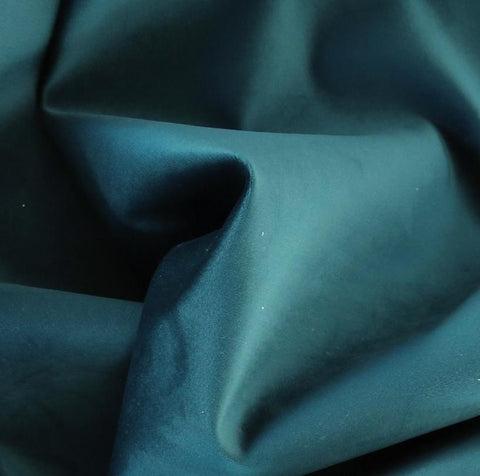 Ritz Velvet, Peacock - Tonic Living Fabric - A blue-green velvet fabric with a luxurious short pile.