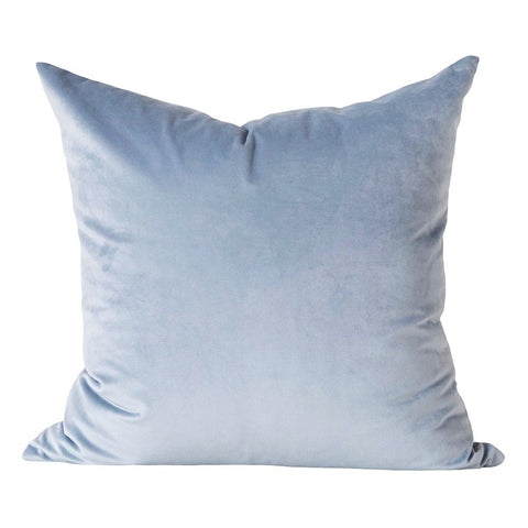 Ritz Velvet, Sky - Tonic Living Pillow - A sky blue velvet pillow with a luxurious short pile.