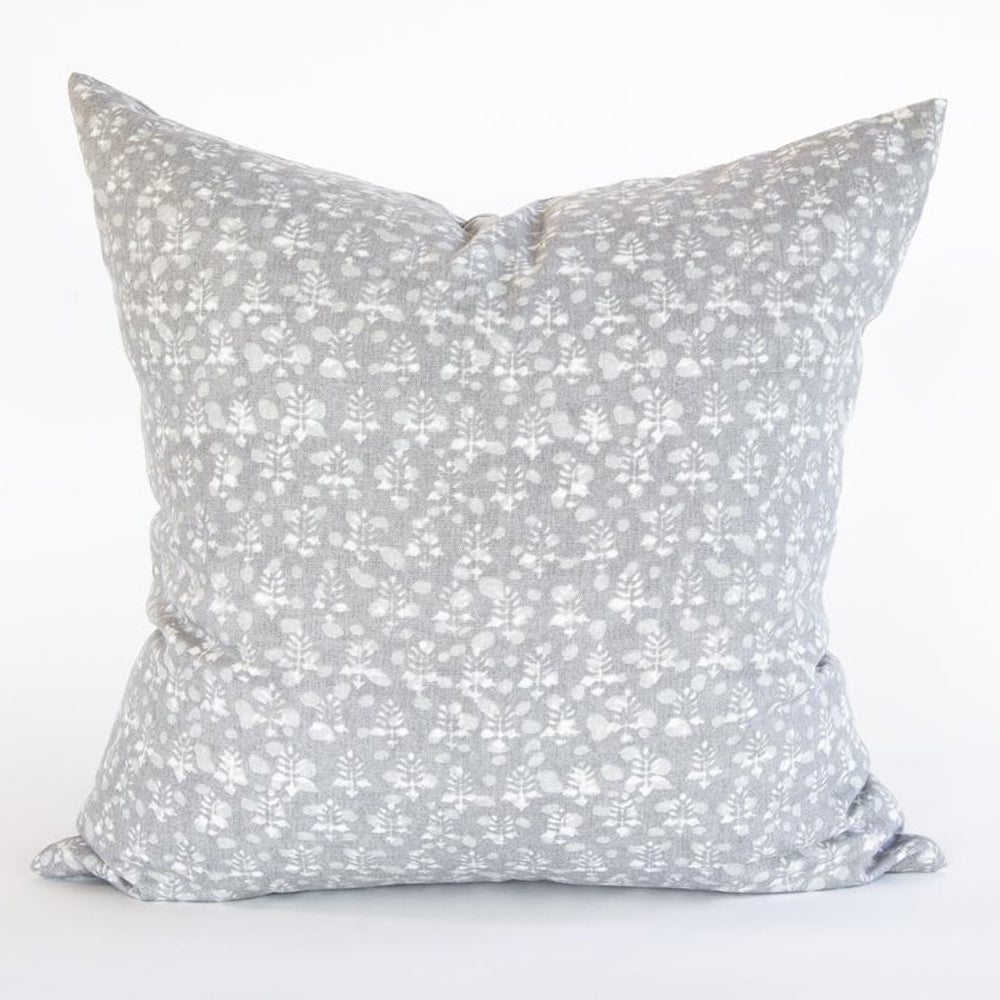 grey floral pillow by Tonic Living