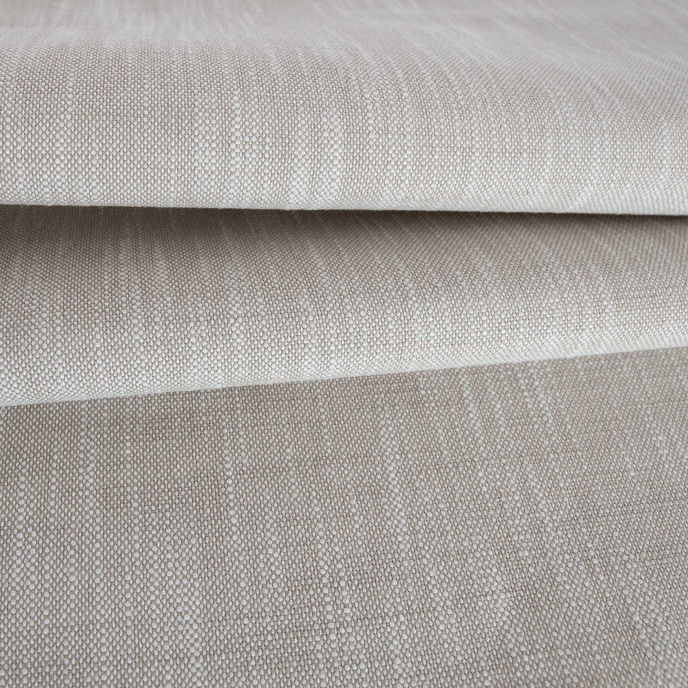 Ryder, Burlap beige linen-inspired outdoor fabric from Tonic Living, former name Rollo