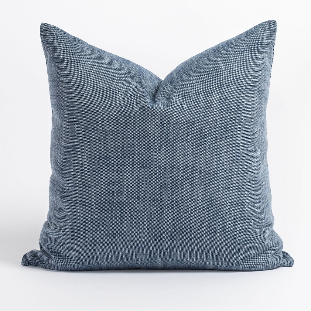 Ryder indigo blue indoor outdoor pillow from Tonic Living