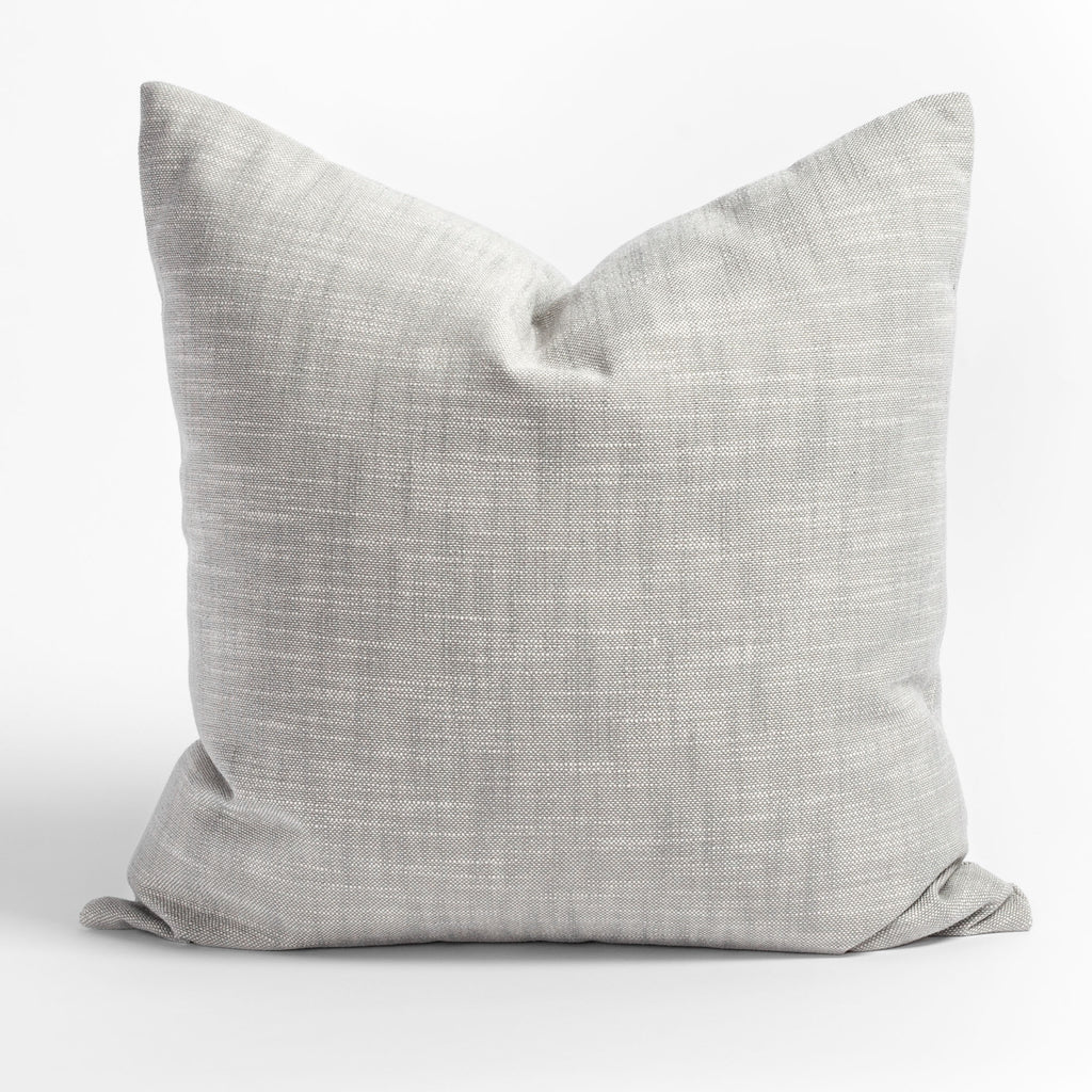 Ryder Zinc, a light grey indoor outdoor pillow from Tonic Living