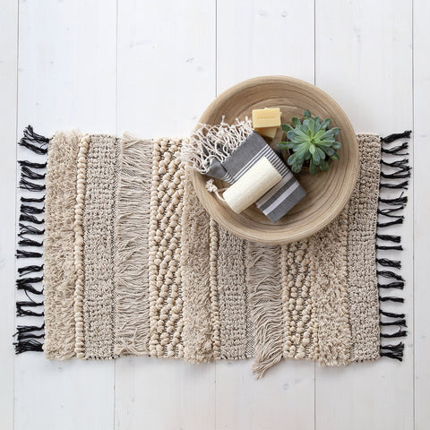 Samira woven bath mat by Tonic Living