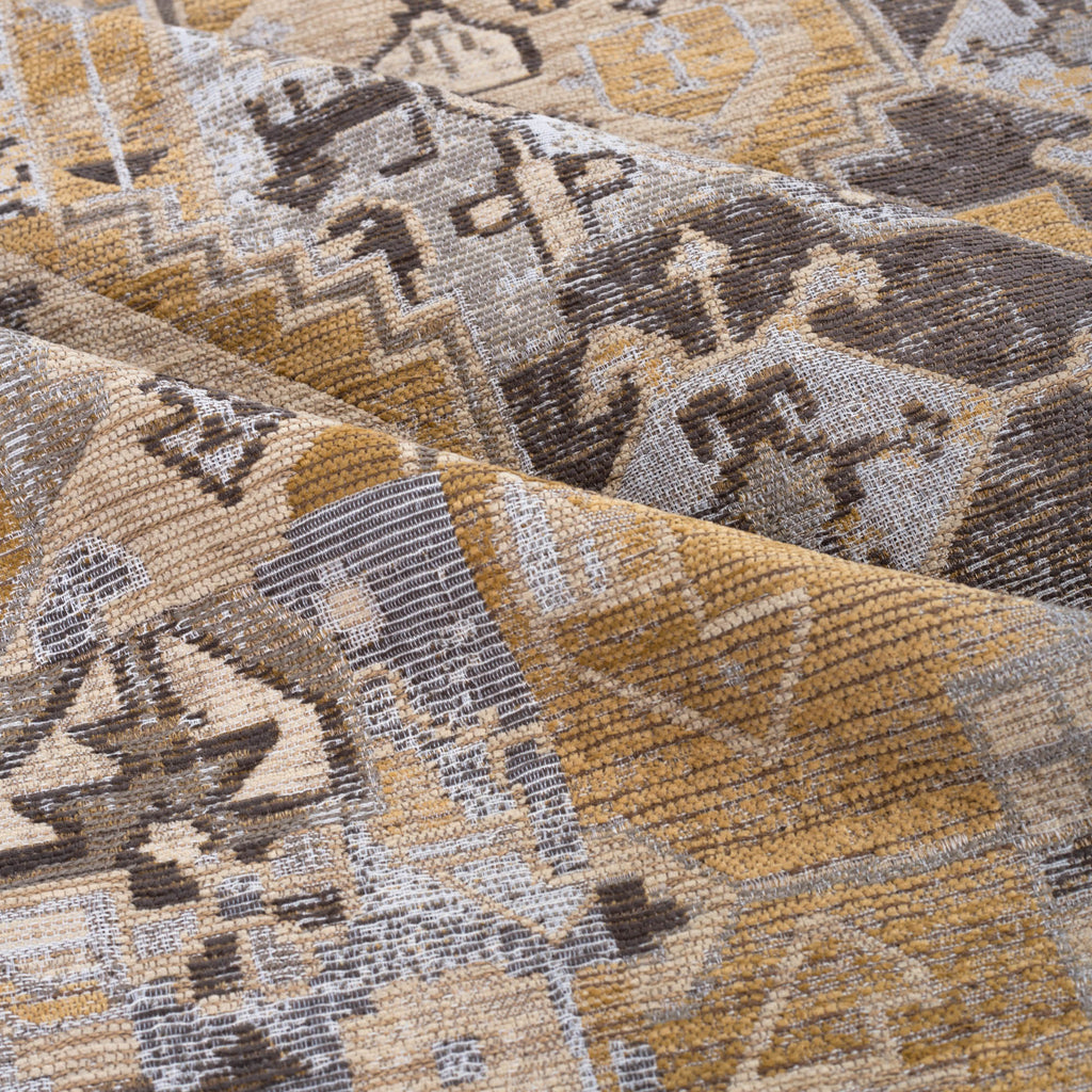 Saro Sisal earth tone turkish pattern home decor fabric