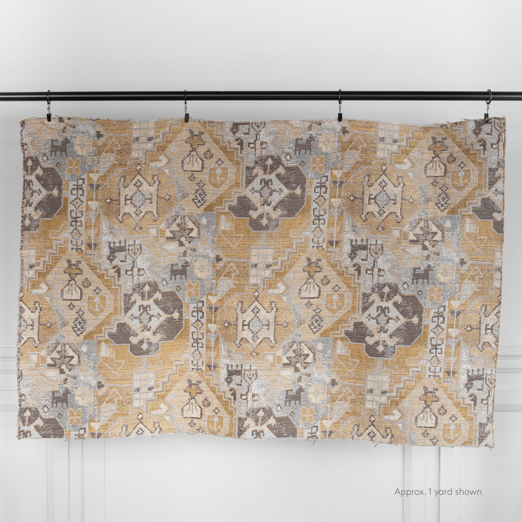 Saro Fabric Sisal, an earth tone tapestry pattern fabric from Tonic Living