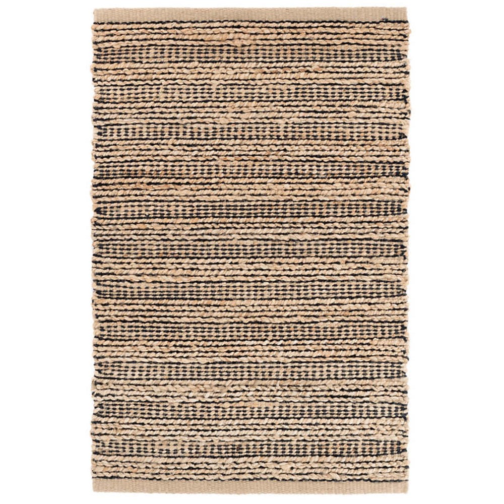 Simba beige and black Dash and Albert jute rug available at Tonic Living