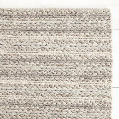 Skagen cream and taupe textured wool rug