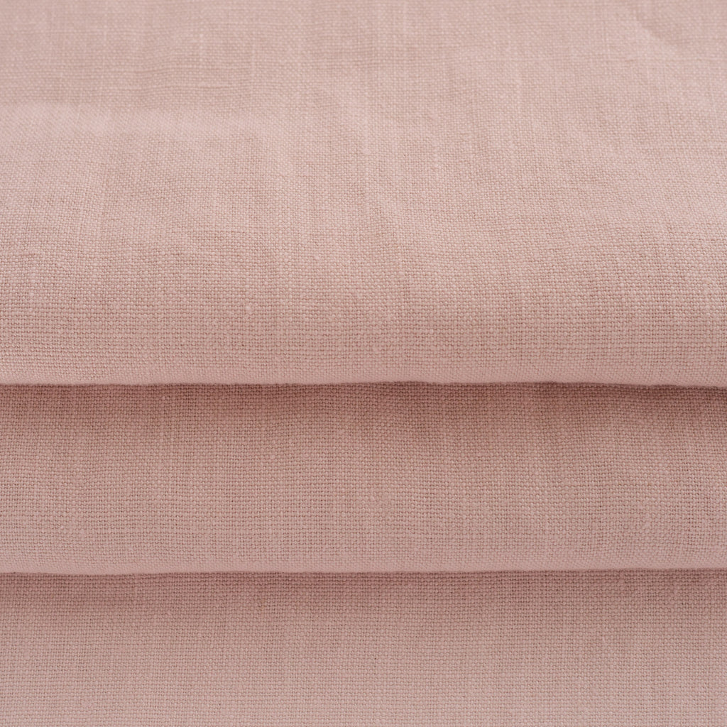 soft washed linen fabric in a petal pink