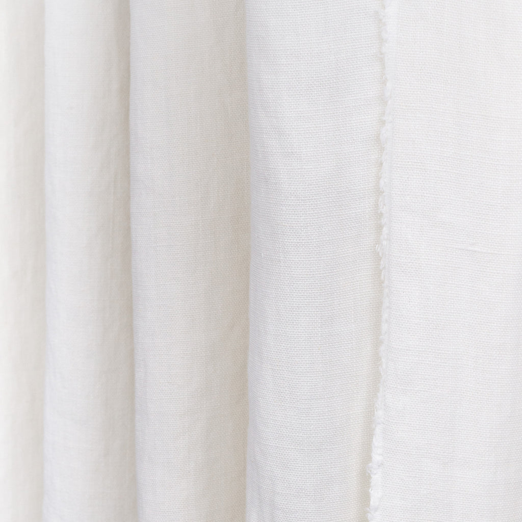 soft white linen curtain fabric