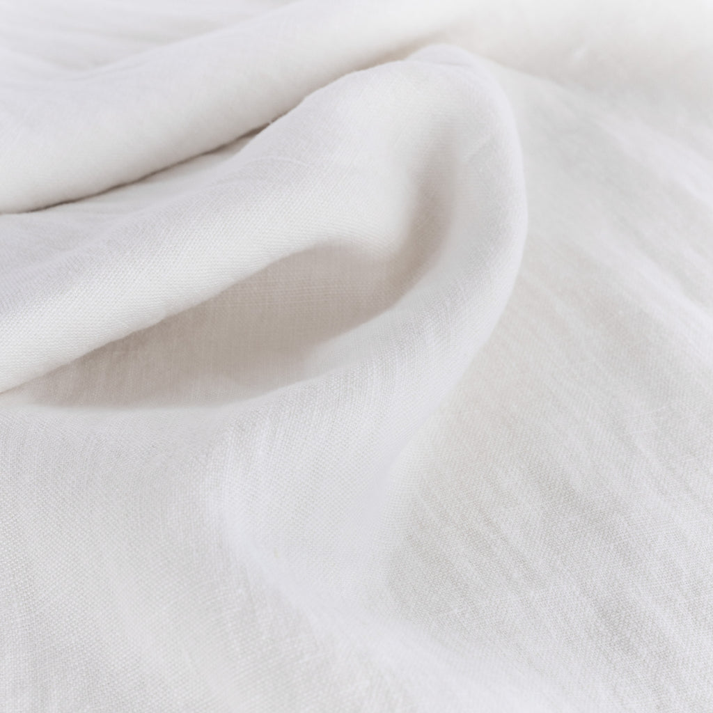 Sorrento white linen drapery fabric from Tonic Living