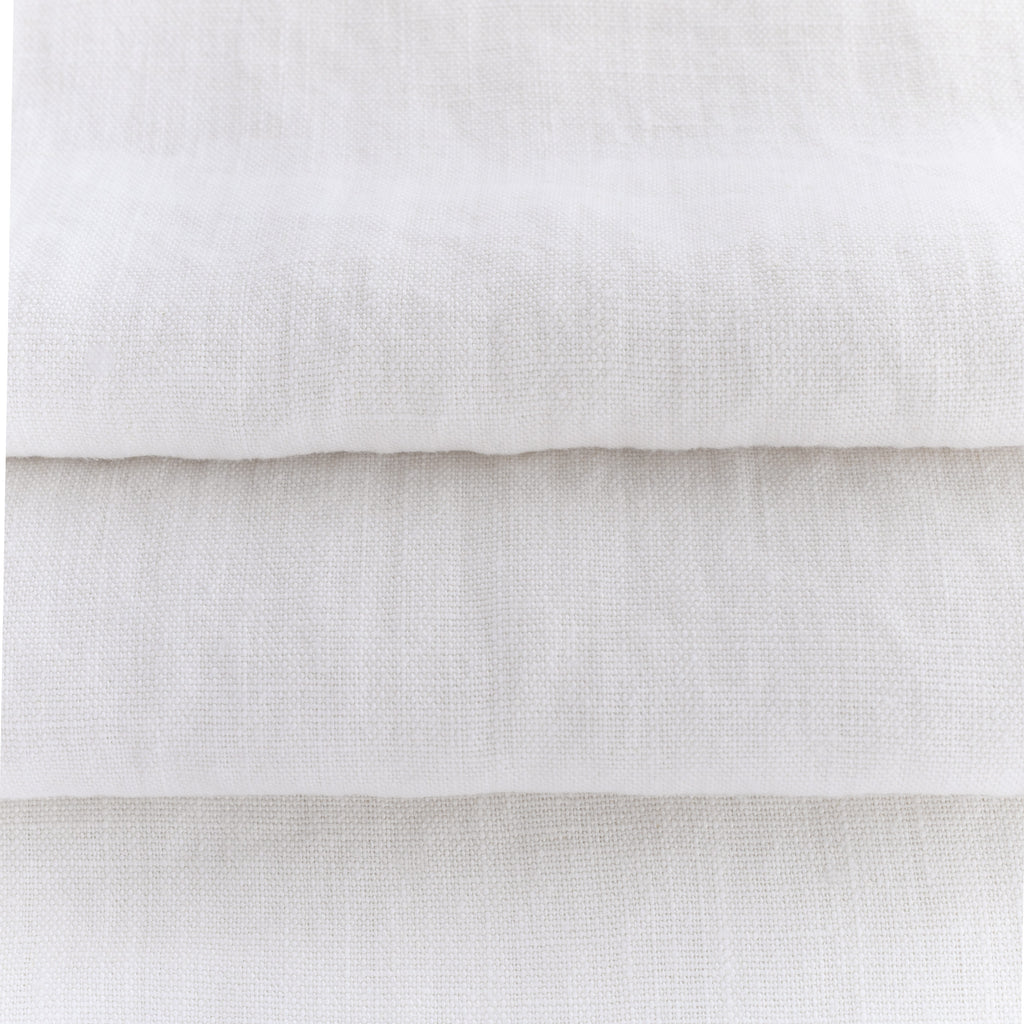soft washed white linen fabric