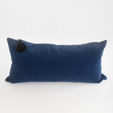 Sunday navy velvet Lumbar Pillow from Tonic Living, formerly Sundance
