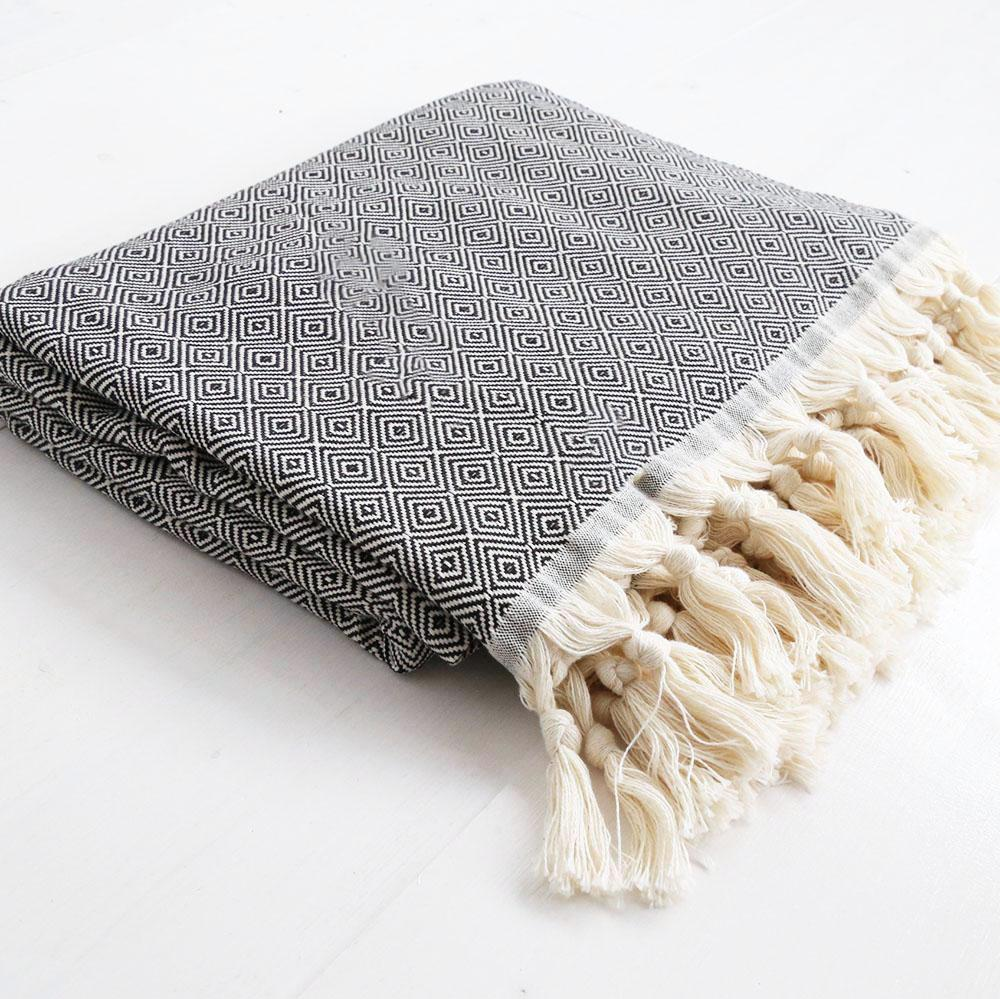 Throw Blanket - Takeda, Black - Tonic Living
