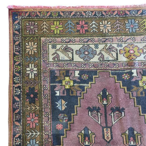 Tarsus Rug - A beautiful dusted grape and rusted mink vintage runner rug.