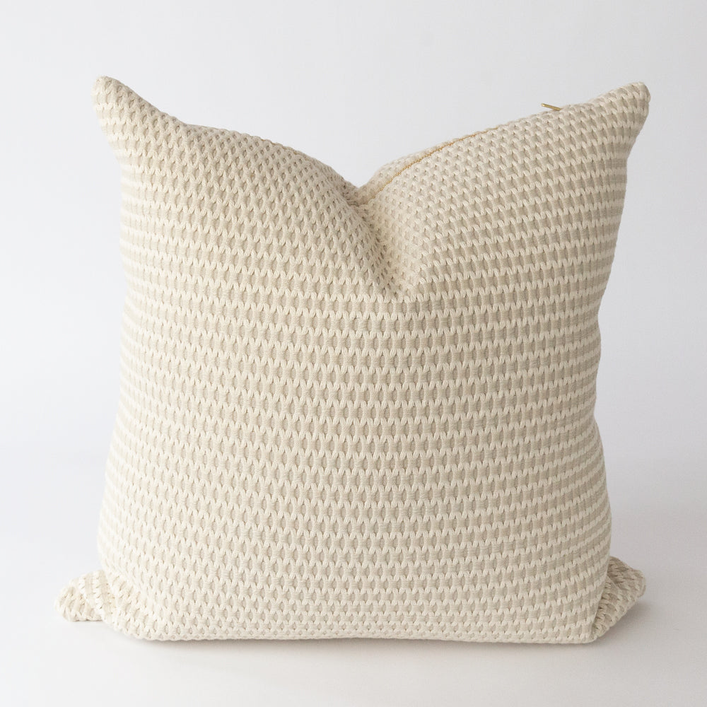 Textura, Sisal creamy taupe textured pillow from Tonic Living