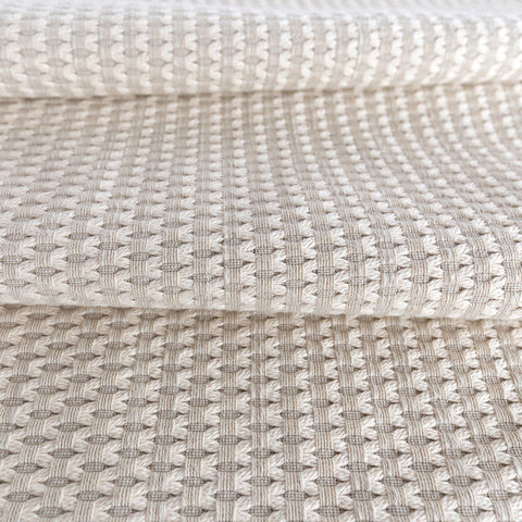 Textura woven embroidered fabric from Tonic Living