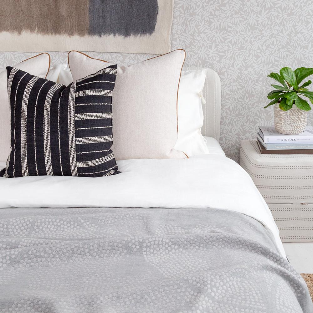 Tonic Living black and neutral bed pillow combination