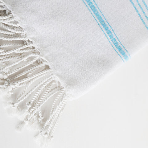 Turkish Towel -  Reverse Michelle, Turquoise