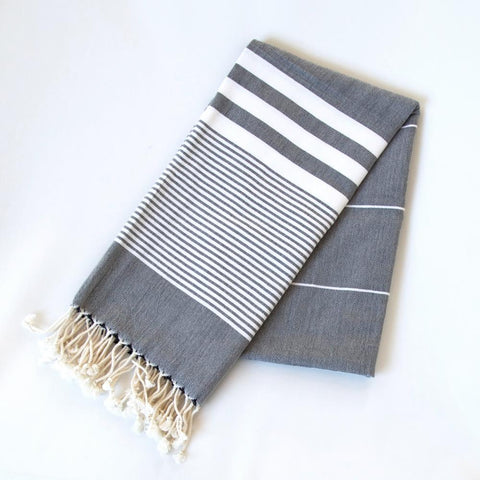 Turkish Towel - The Soho, Slate - Tonic Living