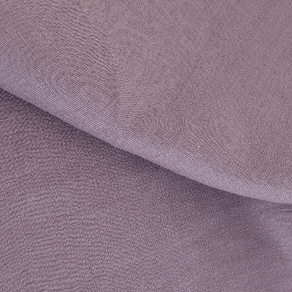 Tuscany Linen Dusted Plum, a muted purple drapery fabric from Tonic Living